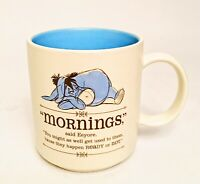 Hallmark Disney Winnie The Pooh Eeyore Sketch Donkey Morning Mug *FREE SHIPPING*