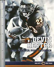 6x8 oversized DEVIN HESTER card newspaper premium Chicago Bears