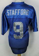 "STAFFORD #9 Detroit Lions American Football Jersey Mens 50"" Reebok Rare"