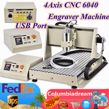 New Listingusb 4axis 6040 Cnc Router Engraver Woodworking Engraving Milling Machine 15kw