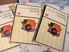 A DUKAY CSALAD I, II, III volumes~Zilahy Lajos 1965 Lot of 3 Hungarian books
