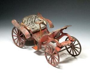 1911~*Rare* WILKINS PHAETON Clockwork AUTOMOBILE~Transitional HORSELESS CARRIAGE