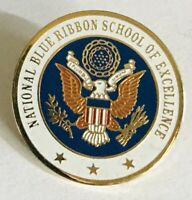 National Blue Ribbon School Of Excellence USA Pin Badge Rare Vintage (C18)