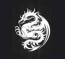 Sticker decal vinyl car bike laptop macbook bumper chinese dragon tattoo white