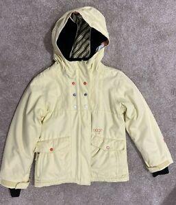 ORAGE Girls yellow ski snowboard winter jacket medium size 10 hooded prime 10