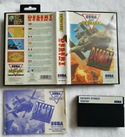 Master System -  Desert Strike - Boxed with manual. FAST FREE UK POST