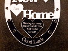 PERSONALISED GOOD LUCK NEW HOME HORSE SHOE GIFT