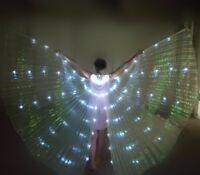 NEW LED isis wings dance show cosplay light up costume Music festival LED Wing