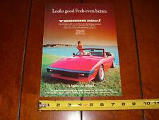 1984 TVR TASMIN 280i ORIGINAL AD