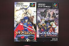Super Famicom SFC Fire Emblem Monsho Nazo + Seisen keifu boxed JP game US Seller