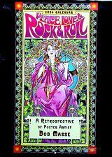 Peace Love Rock Roll Posters Retrospective Calendar 2004 Hand Signed Bob Masse