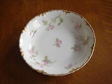 "VINTAGE HAVILAND & CO. LIMOGES FRUIT CANDY DISH 5"" ROSES GOLD TRIM VERY G C"