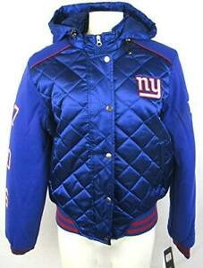 New York Giants Womens Small Hooded Quilted Super Bowl Champions Jacket A1 1116
