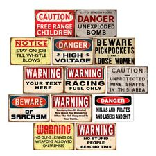 Retro Metal Tin Signs Warning Caution Plate Notice Beware Art Wall Decor