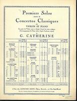 """Viotti : """" Concerto Nr. 20 """" für Violine und Klavier - alte Noten übergroß"""