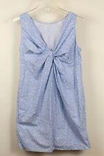 Gap Womens Shift Dress NEW 2 blue white Cotton summer twisted back sleeveless