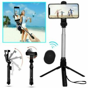 Extendable Phone Selfie Stick Tripod Stand Bluetooth w/Remote for iPhone Samsung