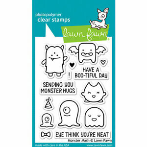 Lawn Fawn Halloween - Clear Photopolymer Stamps - Monster Mash LF700