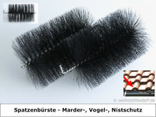 20x Spatzenbürste Ø 9cm,L ca.16 cm mit Biegung Nistschutz Vogelschutz Dachrinne
