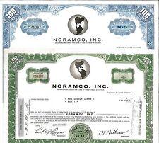 Noramco, Inc. > 1965 Waukesha, Wisconsin old stock certificate share