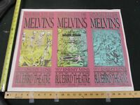 2002 Rock Roll Concert Poster Melvins Enemy Mine Lindsey Kuhn S/N #99