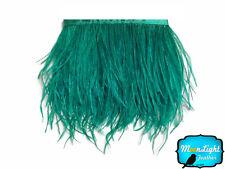 1 Yard - OCEAN GREEN Ostrich Fringe Trim Wholesale Feather (bulk)