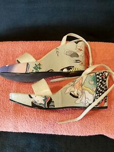 Madeline Wedge Platform Sandals 6 Geisha Themed