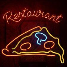 "New Pizza Restaurant artwork Real glass Neon Sign 32""x24"" Beer Lamp Light"