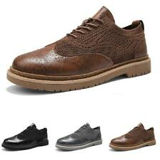 Brogue Mens Business Leisure Shoes Wing Tip Carved Oxfords Work Office Casual L