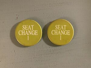 Lot Of 2 Poker Chip Seat Change Buttons Foxwoods Casino