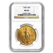 $20 Saint-Gaudens Gold Double Eagle MS-63 NGC (Random) - SKU #123