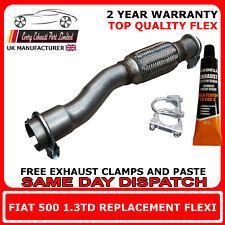 Fiat 500 1.3 D Multijet 2007-Onward New Genuine Exhaust Pipe Repair Flex Flexi