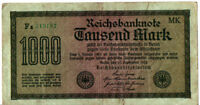 1923 GERMANY / WEIMAR REPUBLIC / 1000 MARK / HYPERINFLATION MARK   #RM66