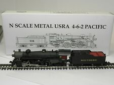 MODEL POWER N SRR USRA 4-6-2 PACIFIC LOCOMOTIVE & TENDER; 7408 NIB