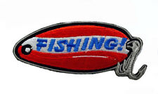 FISHING IRON ON  PATCH - QUALITY AMERICANA - RRP £8 - FREE DELIVERY