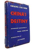 Chiang Kai-Shek CHINA'S DESTINY  1st Edition 1st Printing