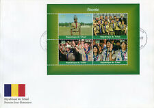 Chad 2018 FDC Boy Scouts 4v M/S Cover Scouting Stamps