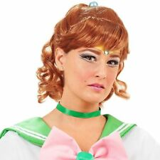 SAILOR MOON SEXY JUPITER WIG AUBURN RED ANIME DRESS UP XMAS GIFT COSPLAY COSTUME