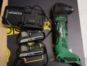 HiKOKI Hitachi CV18DBL 18V Li-ion Brushless Multi Tool 2x Batteries and Charger