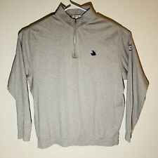 PETER MILLAR Men's HALF-ZIP 100% Cotton XL Gray Sweatshirt Long Sleeve Mens