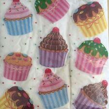 PAPER NAPKINS / SERVIETTES PACK OF 20 CUP CAKE DESIGN NEW