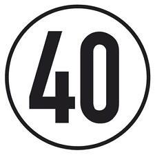 40KMH Schild für Mopedanhänger MKH MWH Simson selbstklebend Folie Aufkleber