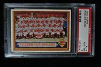1957 Topps - Phillies Team - #214 - PSA 8 - NM-MT