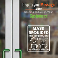 FACE MASK Required Decal - Storefront and office Window Decal. Door Sign