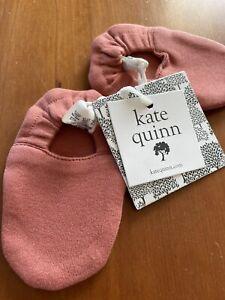 "Kate Quinn NWT Organic Cotton ""Auburn"" Rust Booties-3-6 Months"