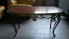 Tavolino in ferro e onice