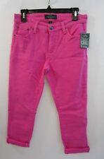 Ralph Lauren Womens Classic Straight Cropped Pink Capri Pants Size 4p