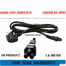 UK C5 Cloverleaf Clover Leaf Mains Power Cable Lead for Laptops adapters 5A