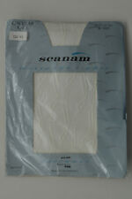 """Scanam Circular Lace Designer Tights Ivory One Size Up To 42"""" Hips"""