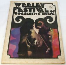 More details for t rex marc bolan quo faces king crimson + others programme weeley festival 1971